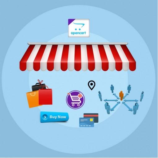 Opencart B2C ve C2C Mağaza Satıcı Modülü