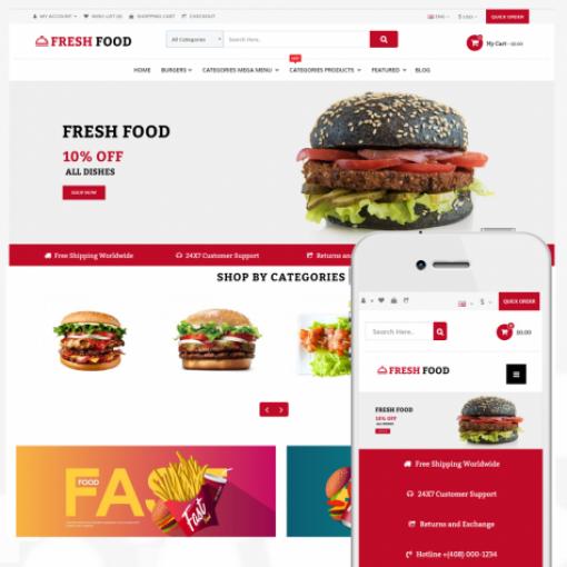 Opencart Food Shop Yemek - Restaurant Teması